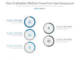 Key Evaluation Metrics Powerpoint Slide Background