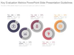 Key Evaluation Metrics Powerpoint Slide Presentation Guidelines