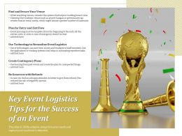 Key Event Logistics Tips For The Success Of An Event