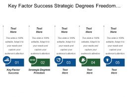 Key Factor Success Strategic Degrees Freedom Strategic Advantage