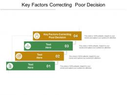Key Factors Correcting Poor Decision Ppt Powerpoint Presentation File Display Cpb