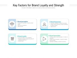Key Factors For Brand Loyalty And Strength