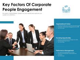 Key Factors Of Corporate People Engagement