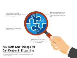 Key Facts And Findings For Gamification In E Learning
