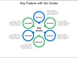 Key Feature With Six Circles