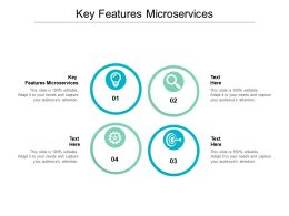 Key Features Microservices Ppt Powerpoint Presentation Ideas Background Images Cpb