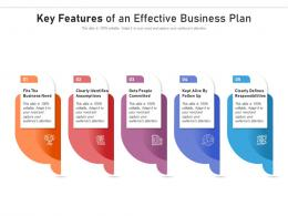 Key Features Of An Effective Business Plan