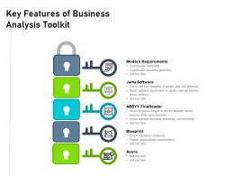 Key Features Of Business Analysis Toolkit