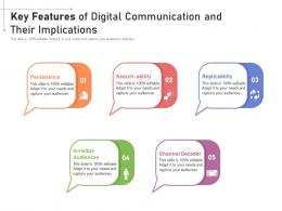 Key Features Of Digital Communication And Their Implications