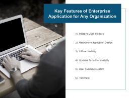 Key Features Of Enterprise Application For Any Organization