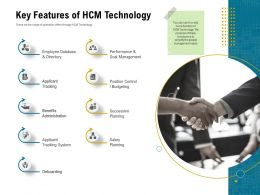 Key Features Of HCM Technology People Ppt Powerpoint Inspiration Introduction