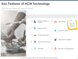 Key Features Of HCM Technology Planning Ppt Powerpoint Presentation File Show