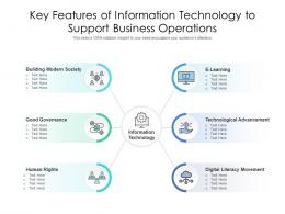 Key Features Of Information Technology To Support Business Operations