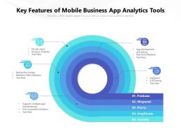 Key Features Of Mobile Business App Analytics Tools