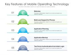 Key Features Of Mobile Operating Technology