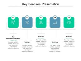 Key Features Presentation Ppt Powerpoint Presentation Show Aids Cpb