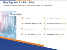 Key Figures For FY 18 To19 Ppt Powerpoint Presentation Professional Tips
