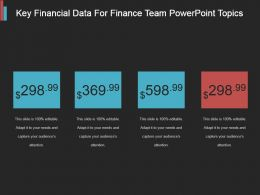 Key Financial Data For Finance Team Powerpoint Topics