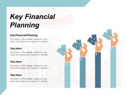 Key Financial Planning Ppt Powerpoint Presentation Model Professional Cpb
