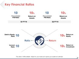 Key Financial Ratios Current Ratio Ppt Pictures Design Ideas