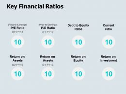 Key Financial Ratios Earnings Ppt Powerpoint Presentation Icon Visuals