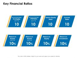 Key Financial Ratios Equity Investment Ppt Powerpoint Presentation Deck