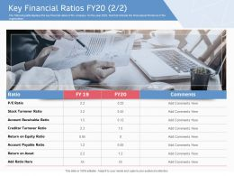 Key Financial Ratios Fy20 Turnover Ppt Powerpoint Presentation Inspiration