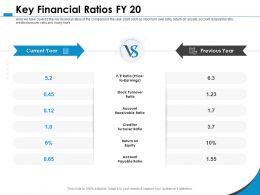 Key Financial Ratios FY 20 Return Equity Ppt Powerpoint Presentation Styles Layout Ideas