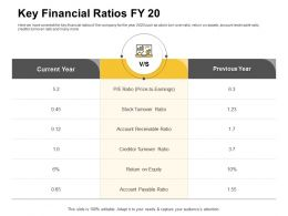 Key Financial Ratios Fy 20 Stock Turnover Ppt Powerpoint Presentation Example 2015