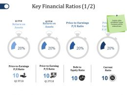 Key Financial Ratios Ppt File Templates