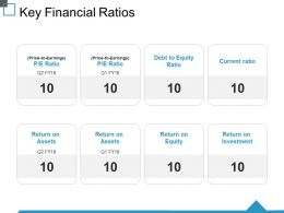Key Financial Ratios Ppt Show