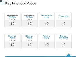 Key Financial Ratios Ppt Show