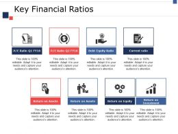 Key Financial Ratios Ppt Show Graphics Example