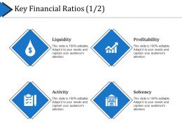 Key Financial Ratios Presentation Layouts
