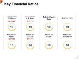 Key Financial Ratios Return Ppt Powerpoint Presentation Visuals