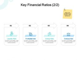 Key Financial Ratios Solvency Ppt Powerpoint Presentation Infographic