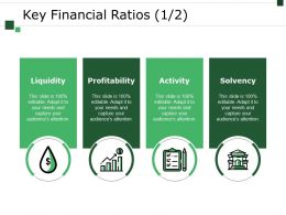 Key Financial Ratios Template 2 Powerpoint Slide Rules