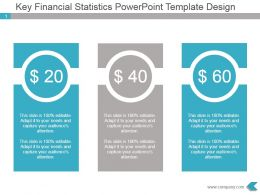 Key Financial Statistics Powerpoint Template Design
