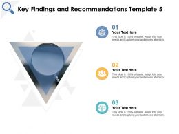 Key Findings And Recommendations Technology Management Ppt Powerpoint Presentation File Master Slide