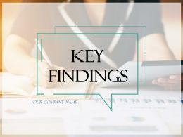 Key Findings Powerpoint Presentation Slides