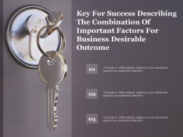 Key For Success Describing The Combination Of Important Factors For