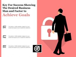 Key For Success Showing The Desired Business Man And Factor To Achieve Goals
