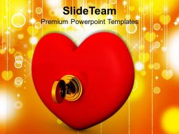 Key From Heart Valentines PowerPoint Templates PPT Themes And Graphics 0213