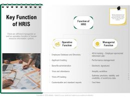 Key Function Of HRIS Simplify Workflow Ppt Powerpoint Presentation Portfolio Designs Download