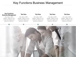 Key Functions Business Management Ppt Powerpoint Presentation Slides Example Cpb
