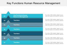 Key Functions Human Resource Management Ppt Powerpoint Presentation Layouts Shapes Cpb