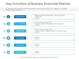 Key Functions Of Business Financials Planner