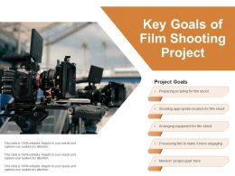 Key Goals Of Film Shooting Project