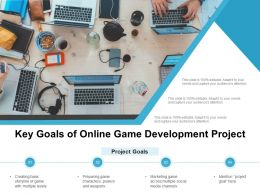 Key Goals Of Online Game Development Project