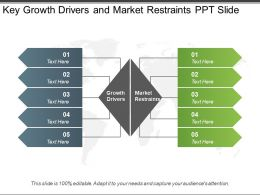 Key Growth Drivers And Market Restraints Ppt Slide
